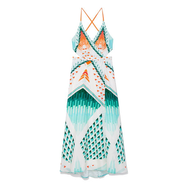 Temperley London Sun Shade Wrap Dress
