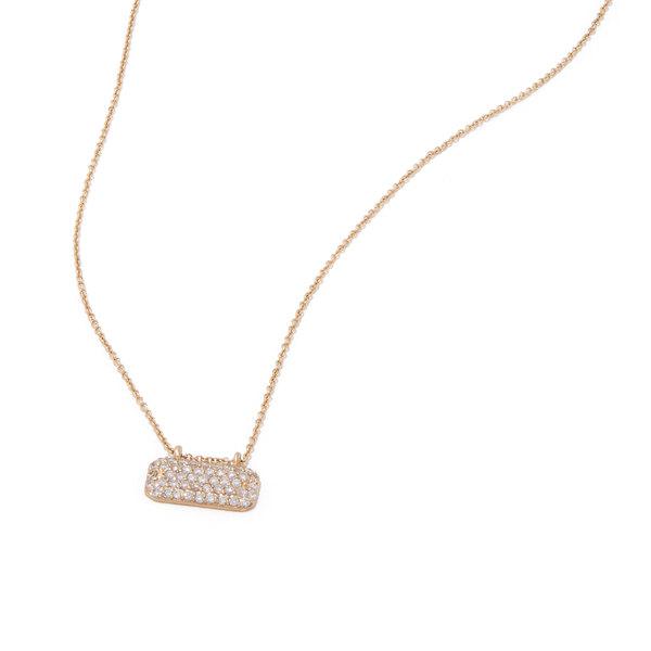 Sophie Ratner Horizontal Diamond Studded Necklace