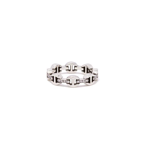 Hoorsenbuhs Dame Tri-Link Ring with Diamond Bridges