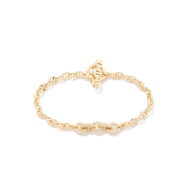 HOORSENBUHS Five Link Pavé Bracelet