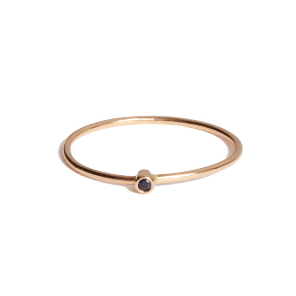 Jennifer Meyer Blue Sapphire Thin Ring