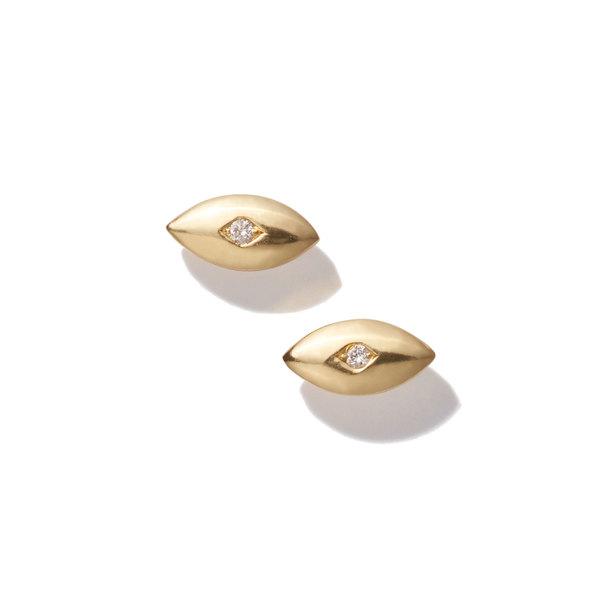 Jennifer Meyer Mini Evil Eye Stud Earrings