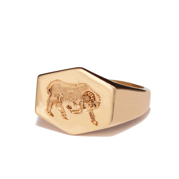 Kim Dunham Zodiac Sign Gold Rings