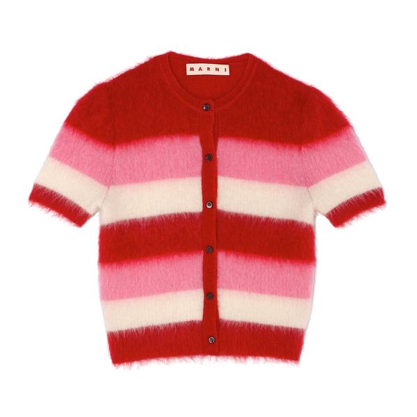 Marni Short-Sleeve Mohair Sweater