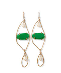 Emerald Resin Earrings