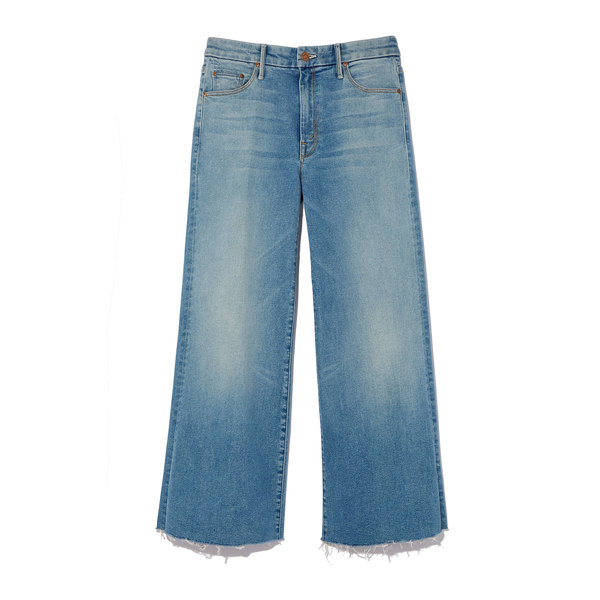 MOTHER Roller Crop Snipper Fray Jeans