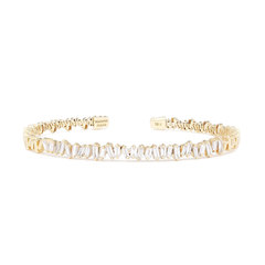Baguette Diamond Firework Bangle