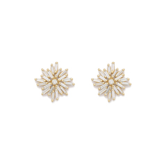 Diamond Firework Stud Earrings