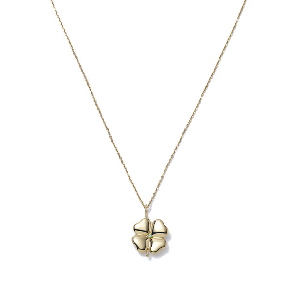 Aurelie Bidermann Clover Pendant Yellow-Gold with 50cm Chain