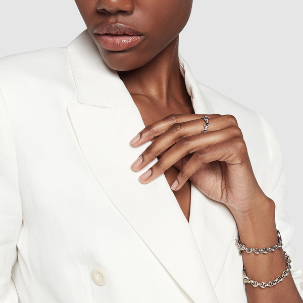 HOORSENBUHS ID Tri-Link Sterling Silver Bracelet