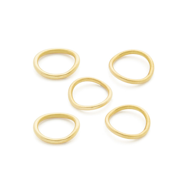 Soko Jewelry Wavy Ring Stack