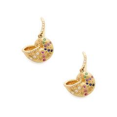 Nautilus Yellow-Gold Multi Mini Earrings