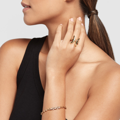 Five Link Pavé Bracelet