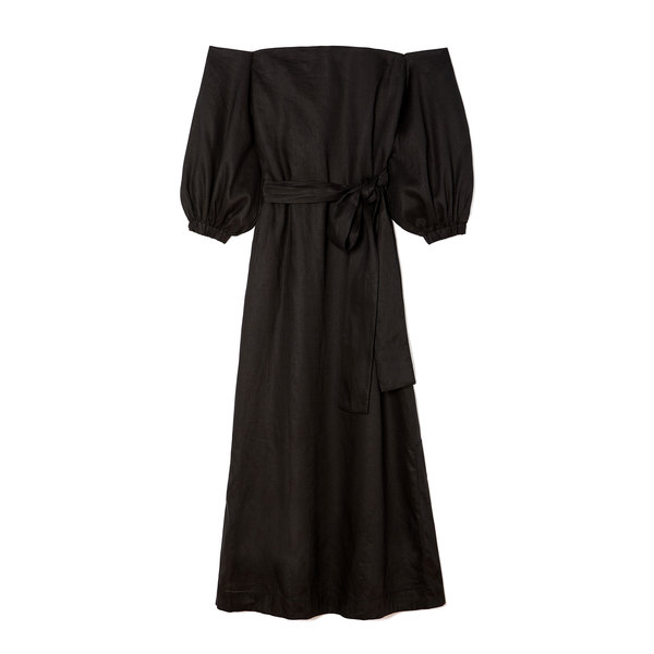 Lisa Marie Fernandez Rosie Linen Bubble-Sleeve Dress