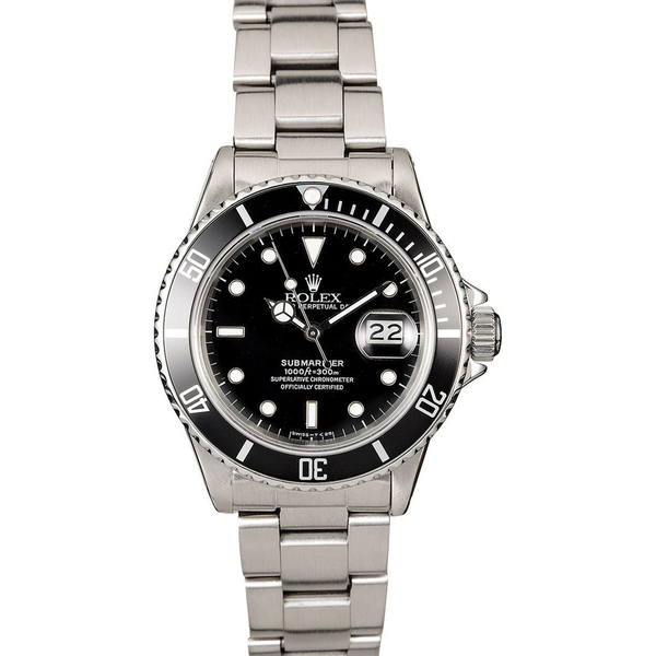 Bob's Watches Stainless Steel Rolex Submariner 16610