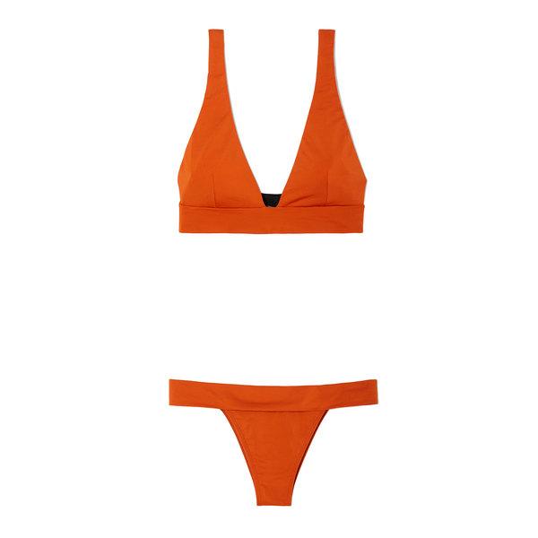 Haight Rust V-Neck Bikini Set