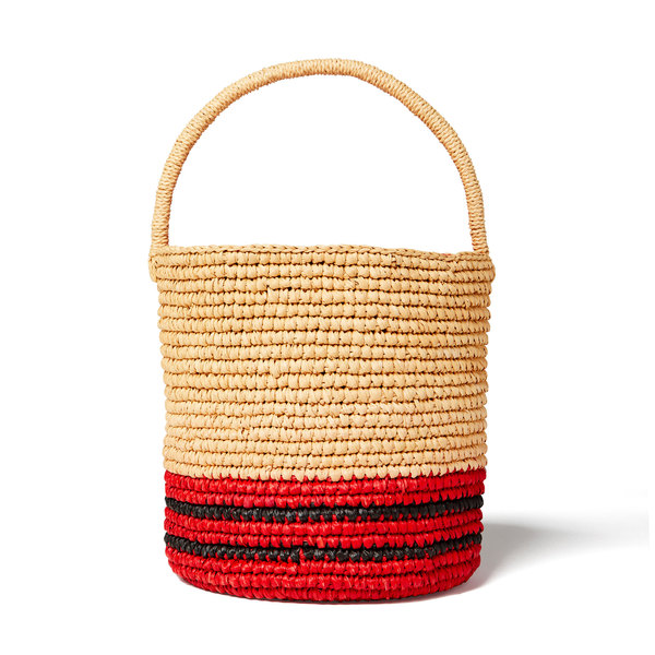 Sensi Studio Striped Lined Bucket Bag