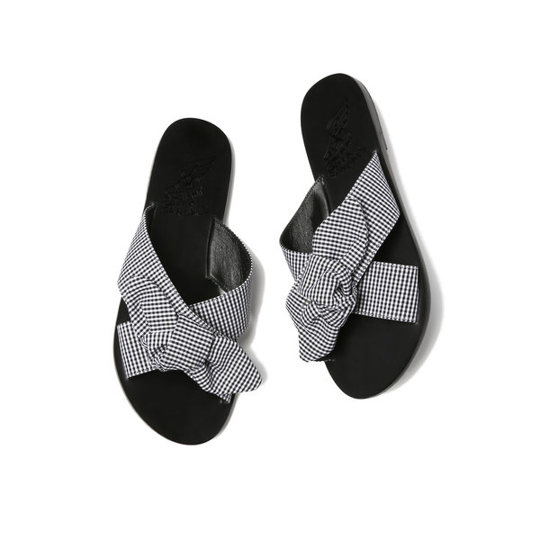 Ancient Greek Sandals Thais Bow Cotton Sandals