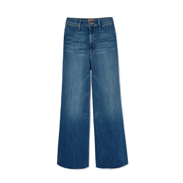 MOTHER The Swooner Roller Crop Fray Jeans