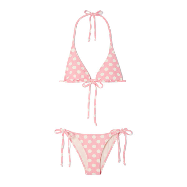 Lisa Marie Fernandez Pamela Crepe String Bikini