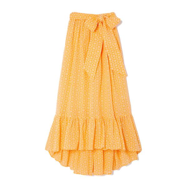 Lisa Marie Fernandez Nicole Floral Eyelet Skirt