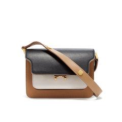 Color-Block Leather Borsa Tracolla Bag