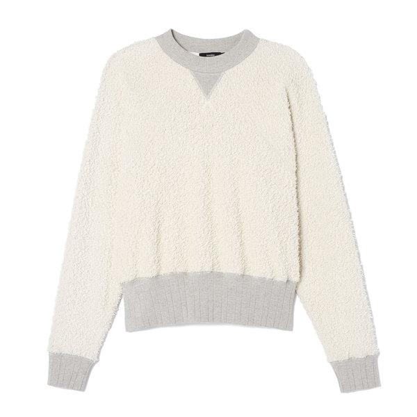 Bassike Reverse Fleece Raglan Sweatshirt