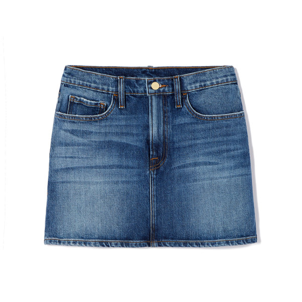 goop x Frame Le Mini Denim Skirt