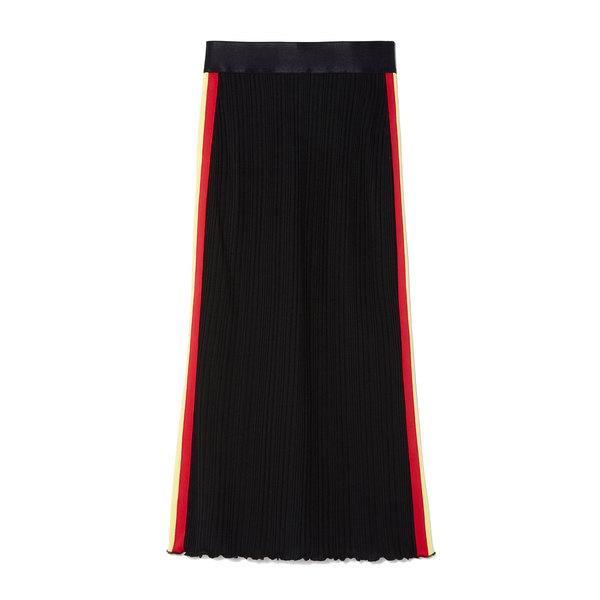 Ellery Dasha Stripe Rib-Knit Skirt