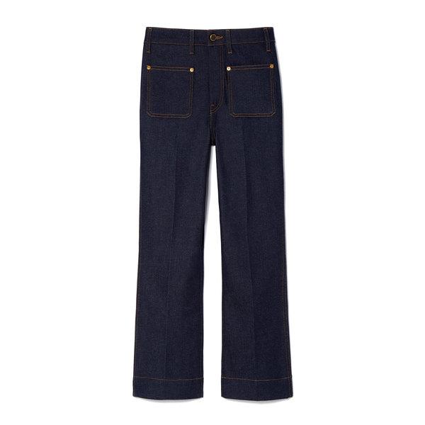 Khaite Raquel Cropped Flare Jeans