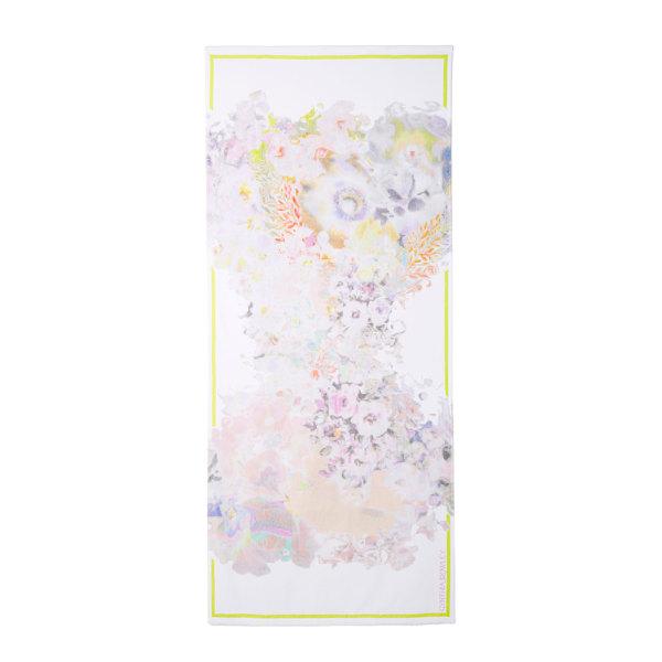 Cynthia Rowley White Multi Printed Towel