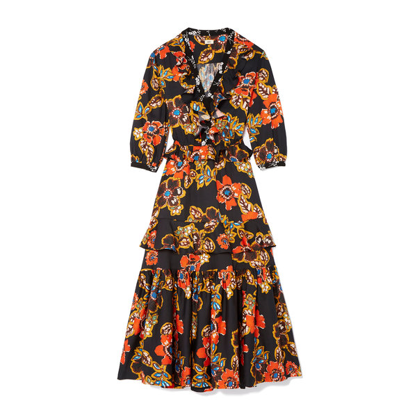 Warm Batik Floral Dress