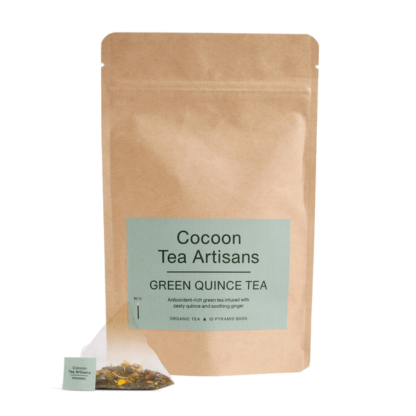 COCOON TEA ARTISANS  100% Organic Green Quince Tea Refill Bag