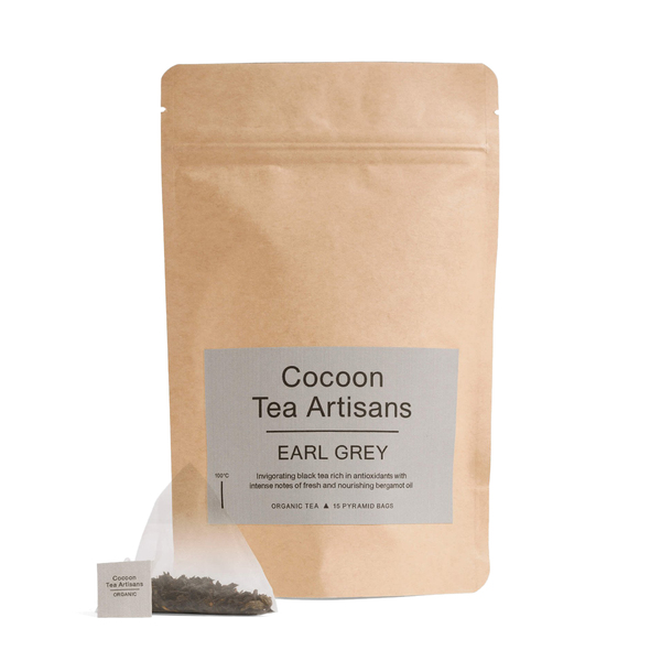 COCOON TEA ARTISANS  100% Organic Earl Grey Tea Refill Bag