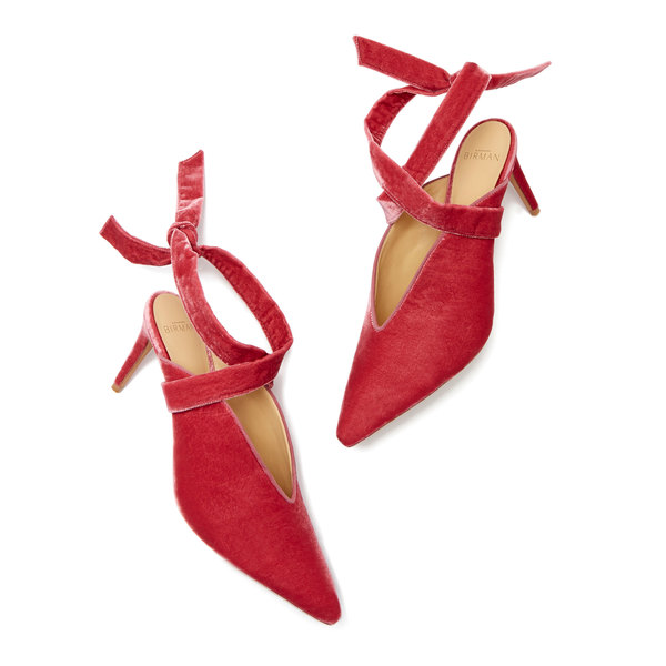 Alexandre Birman Sally Velvet Mule Heels