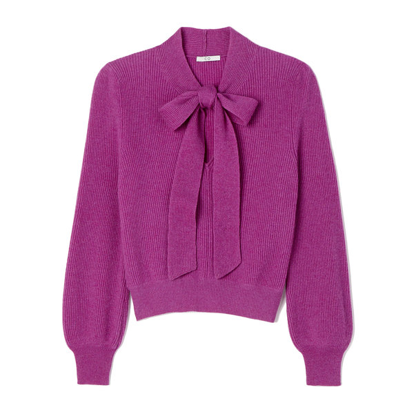 Co Tie-Neck Cashmere Sweater