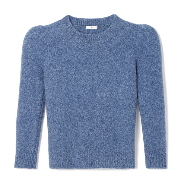 Co Crepe Cashmere Puff-Sleeve Sweater