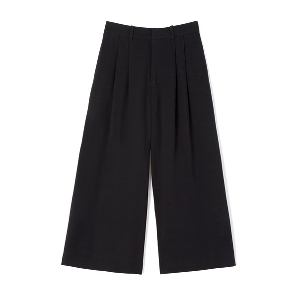 Co Tropical Cotton Black Culottes