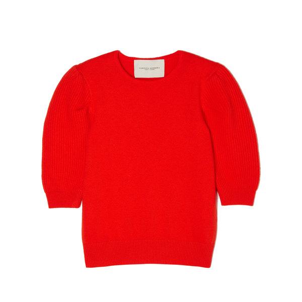 Carolina Herrera Elbow-Sleeve Sweater