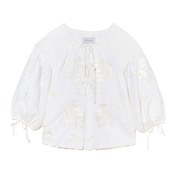 Innika Choo Embroidered Smock Top