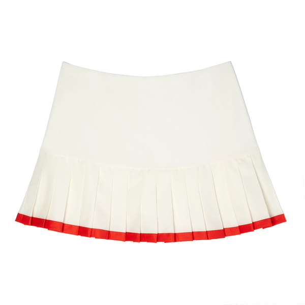 Tory Sport Pleated Contrast Hem Tennis Skirt