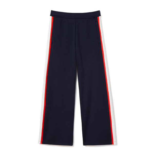 Tory Sport Wide-Leg Cropped Track Pants