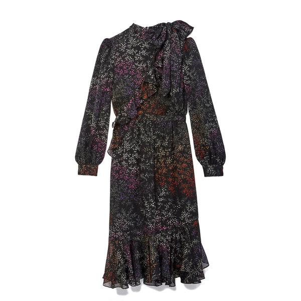 Co Printed Chiffon Dress