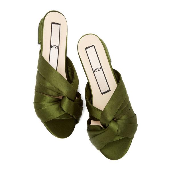 No. 21 Satin Twist-Front Sandals