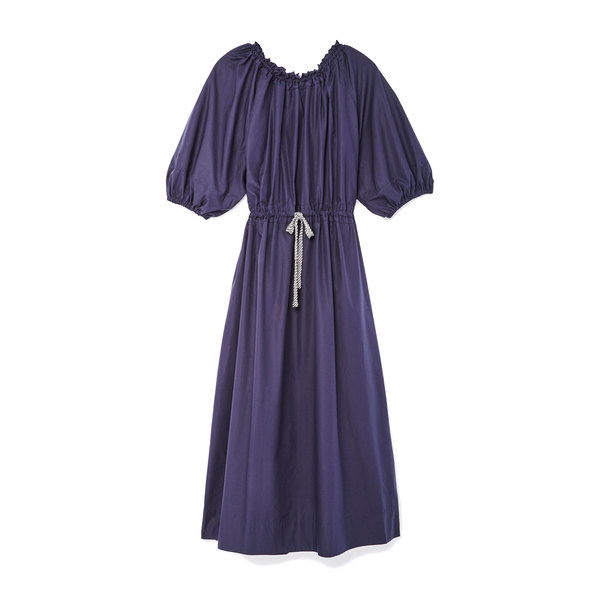 Lee Mathews Miller Poplin Tie-Detail Dress