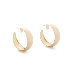 Dome Yellow-Gold Hoops