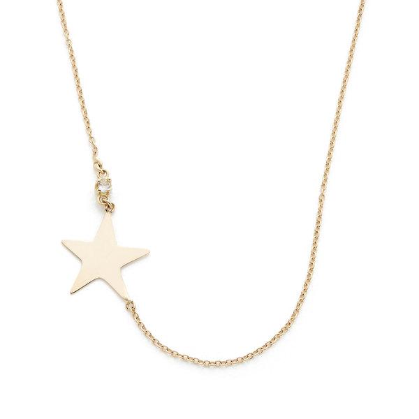 Loren Stewart Diamond Star Dust Yellow-Gold Necklace