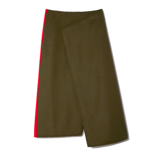 Joseph Pencil Wool-Felt Skirt