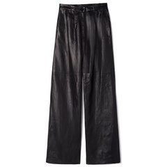 Nicol Black Leather Pants