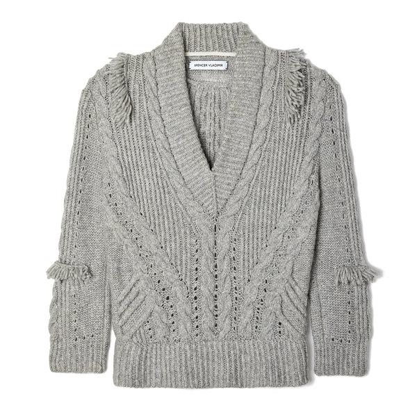 Spencer Vladimir On-the-Fringe V-Neck Cashmere Sweater